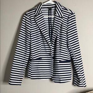 Suit blue stripes